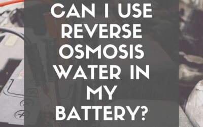 Can I use reverse osmosis water in my battery?