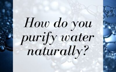 How do you purify water naturally?